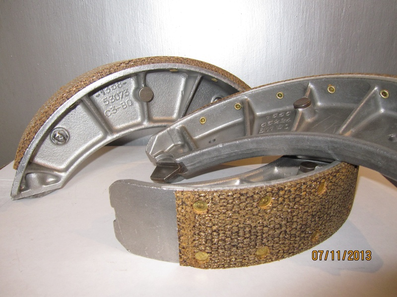 Relined Alfa Romeo 1900 Brake Shoes